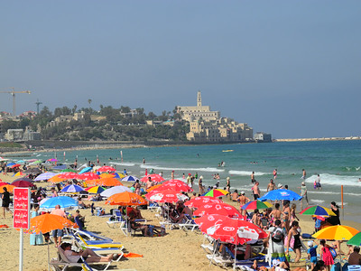 The ancient port city of Jaffa, at the end of the beach in Tel Aviv.  We walked there the first full day in Tel Aviv