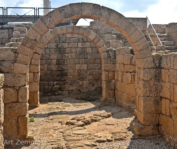 Reconstructed arches at Caesarea