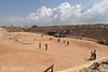The hippodrome at Caesarea. Charriot races with a Mediterranean breeze.