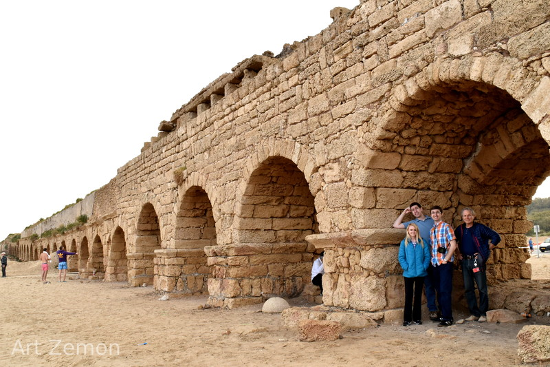 First stop in Israel: the Roman aquaduct at Caesarea