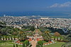 View of the Bahai Gardens and Haifa