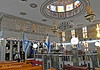 Inside the main sanctuary of the Tunisian Synagogue, Acre