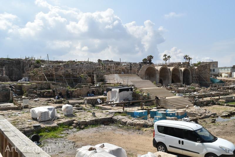 Reconstructing Herod's harbor in Caesarea