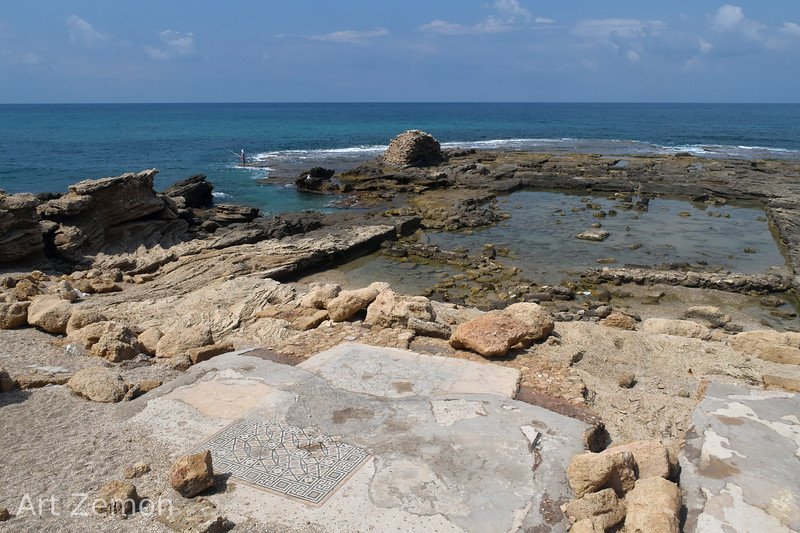 The Mediterranean Sea from Herrod's palace at Caesarea