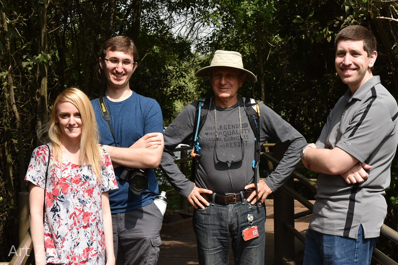Hiking in the Tel Dan Nature Reserve. Katie, David, Gilad, and Kevin.
