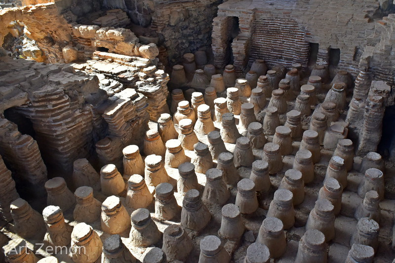Subfloor of a calidarium at Beit She'an