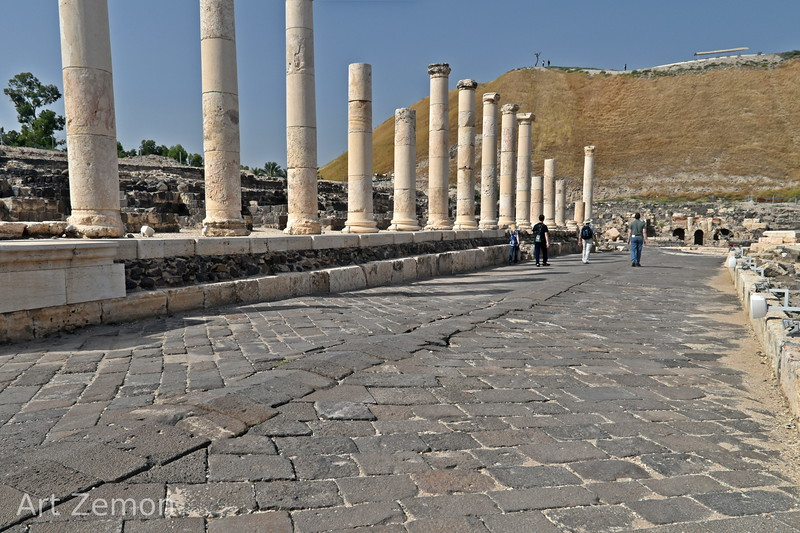 One of the main streets in Beit She'an.