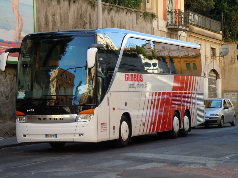 Globus tour - our Setra motor coach with Piero as driver