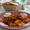 Lunch in the village of Nocelle,  this was a squid & octopus with fresh tomatoes mixed with pasta