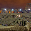 Inside the Colosseum at Night