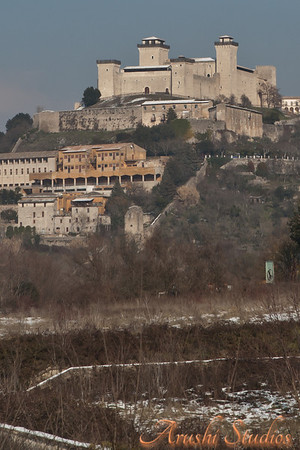 Hill top castles - a regular sight in Italy.