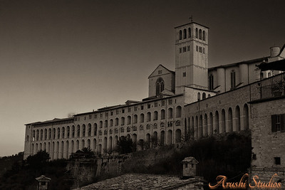 This is the outer part of the Basilica of San Francesco d'Assisi