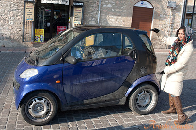 There a lot of these small cars in Italy.  You don't need to know parallel parking with these cars. You can park them like bikes between regular cars.