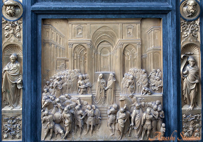 Scenes on the Gates of Paradise - Solomon and the Queen of Sheba (Panel 10)
