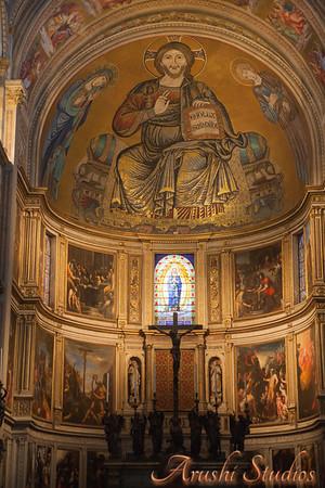 Inside the church