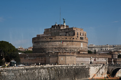 Angels Castle. This fort is part of the vatican and was the hideout of the pope during the middle ages.