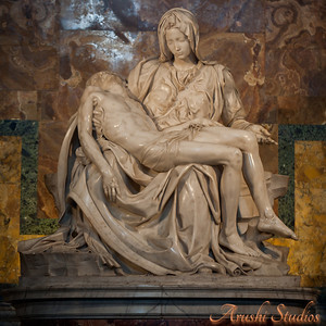 The Pietà is a masterpiece of Renaissance sculpture by Michelangelo Buonarroti, housed in St. Peter's Basilica in Vatican City