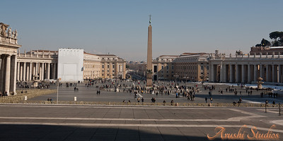 St Peter's square as seen from the basilica.