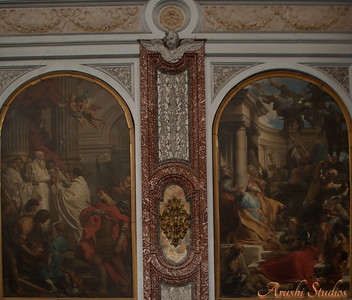 Marble decoration and paintings in St Mary's Basilica