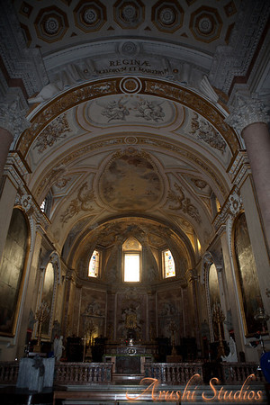 The St Mary's Basilica was our first introduction to the beautifully decorated interiors. The whole basilica including the ceiling was ornately decorated with paintings, and cornices.