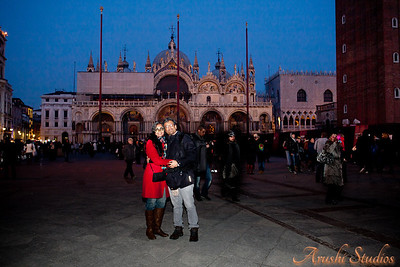 We in front of St Marks basilica.