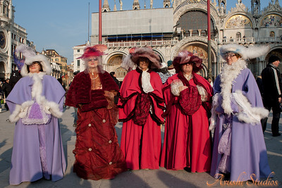Even the older ladies took part in the festivities in character.