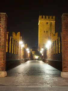 Gita a Verona - Magic lights on the bridge