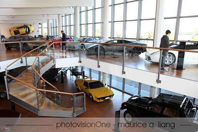 Inside the Lamborghini museum.