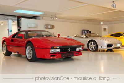 Inside the Ferrari museum.