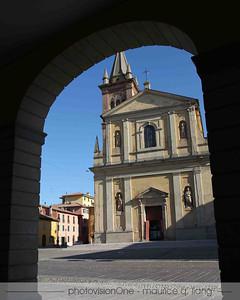 Town square of Sant 'Agata - home of Lamborghini.