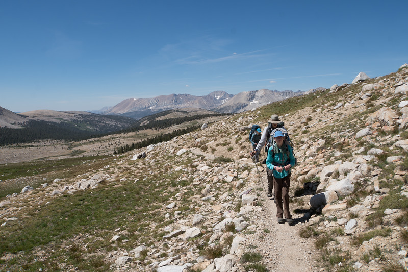 On our way up to Forester Pass