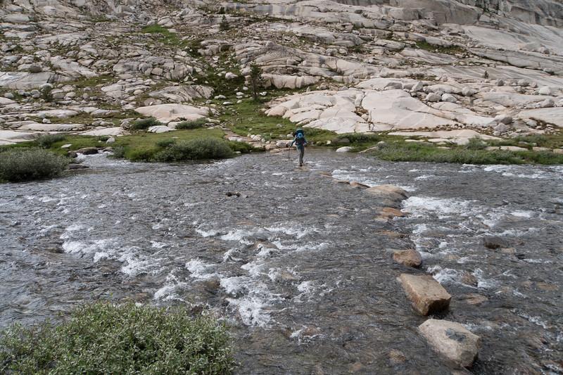 Crossing above Evolution Lake