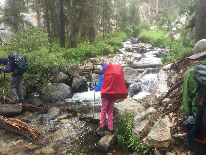 Crossing a small part of the South Fork of the Kings River