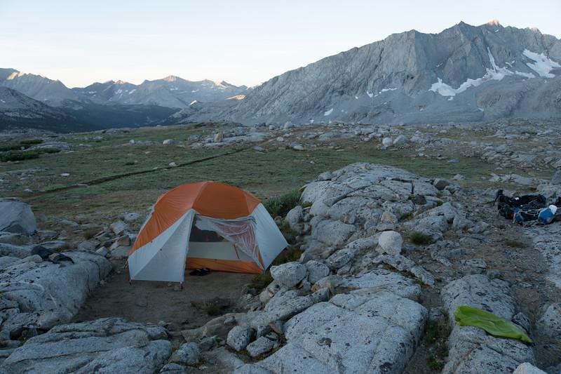 Camp #7, just below Mather Pass