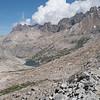 Down the trail toward Palisade Lakes