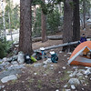 Camp #8, next to a roaring waterfall, at the junction with the Middle Fork Kings River trail