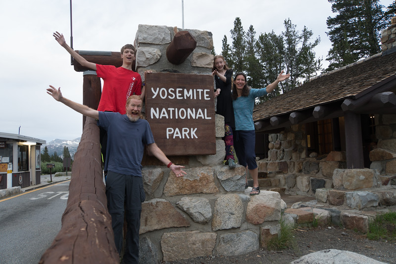 We drove into Yosemite to leave the car in Yosemite Valley (where we were supposed to finish the JMT)