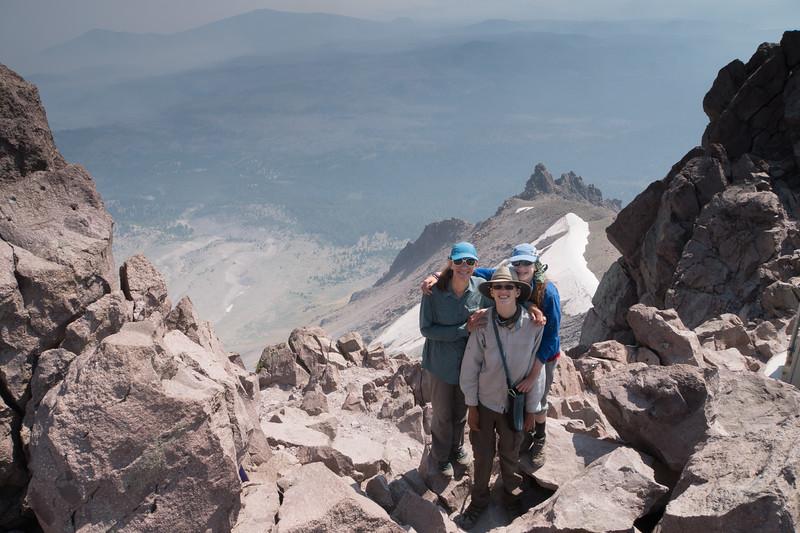 At the top of Lassen Peak