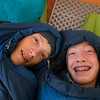 Requisite sleeping bags in the tent picture