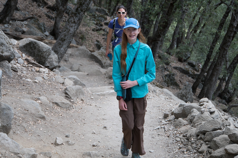 We found a spot to park the car, and then had some time before our bus ride back to Mammoth. We hiked part of the way to Upper Yosemite Falls.