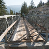The footbridge taking us out of Kings Canyon NP