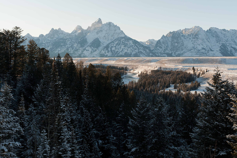 Grand Teton National Park<br /> Snake River Over Look<br /> Dec 2011