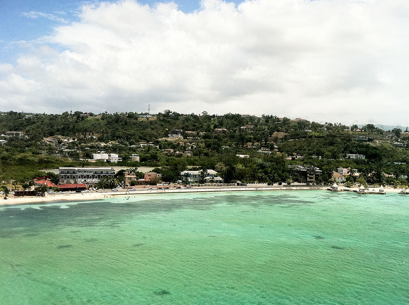 Image taken from the airplane as we prepared for landing.  Jamaica soon come.