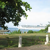 Cruise ship in port in Ocho Rios.
