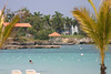 """Looking past the Couples Negril beach, over toward the """"beach"""" that is featured at most of Grand Lido."""