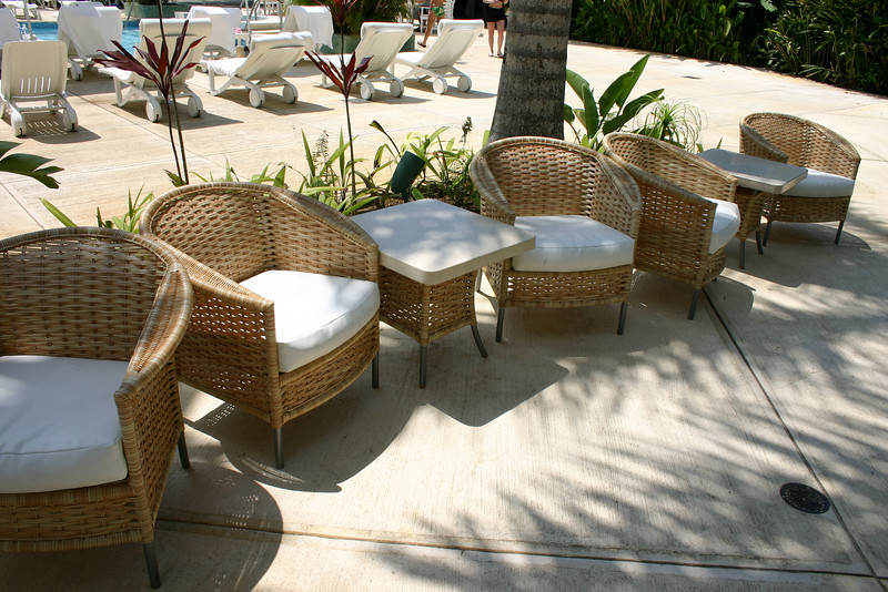You don't really get tired walking around the resort, but who needs an excuse to sit down when the chairs are so comfortable?