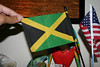 The Jamaican Flag:<br /> <br /> Gold represents  the natural wealth of this of this island nation, and natural beauty bestowed on Jamaica by the golden sunlight. <br /> <br /> Green is for Jamaica's agricultural resources and also represents hope. <br /> <br /> Black represents the many hardships endured and yet to come.