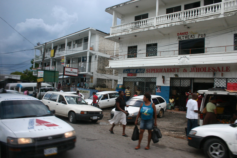 A real Jamaican town... not the tourist areas.