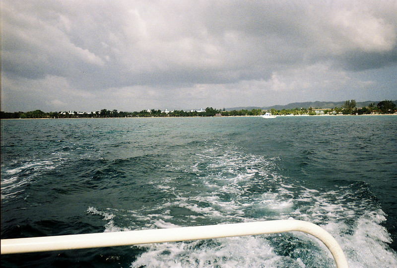 Onboard the Catamaran, and speeding away from Couples Negril!