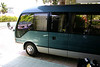 And there it is... the airport shuttle.  The air conditioning on this bus was great!